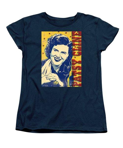 Patsy Cline Pop Art Women's T-Shirt (Standard Cut) by Jim Zahniser
