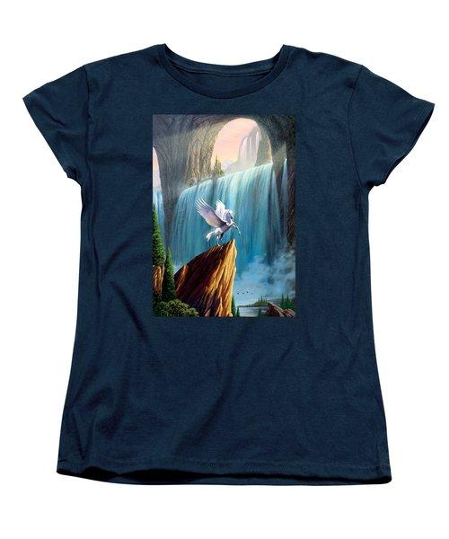 Pegasus Kingdom Women's T-Shirt (Standard Cut) by Garry Walton