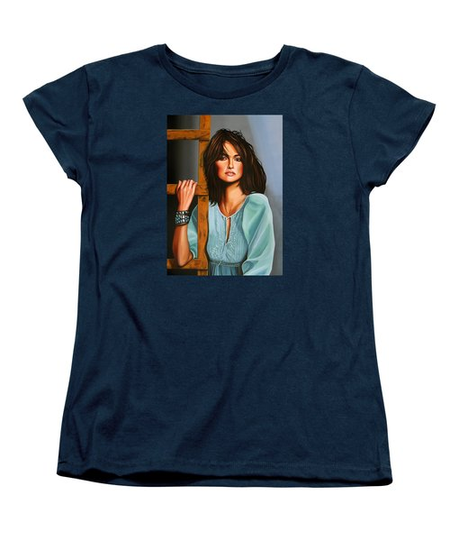 Penelope Cruz Women's T-Shirt (Standard Cut) by Paul Meijering