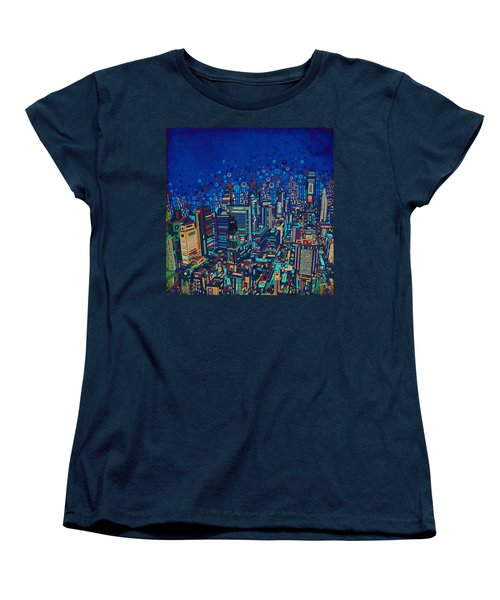 Philadelphia Panorama Pop Art 2 Women's T-Shirt (Standard Cut) by Bekim Art