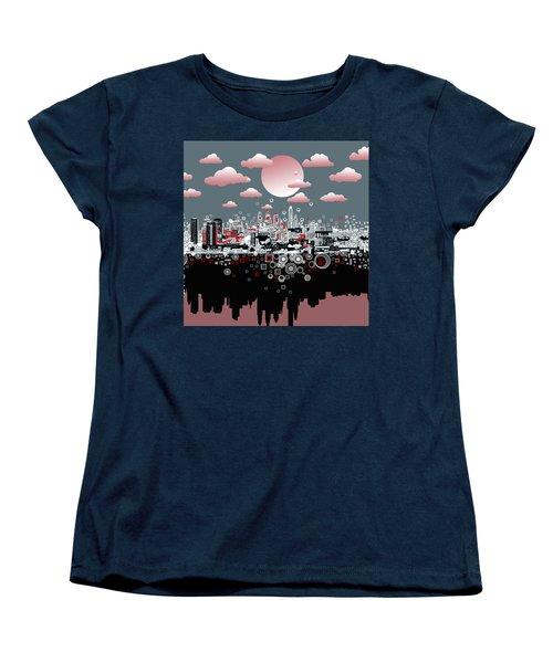 Philadelphia Skyline Abstract 6 Women's T-Shirt (Standard Cut) by Bekim Art