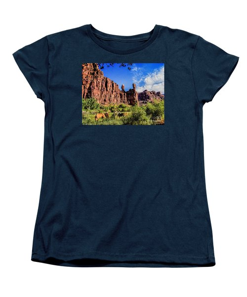 Private Home Canyon Dechelly Women's T-Shirt (Standard Cut) by Bob and Nadine Johnston