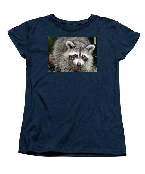 Raccoon Eyes Women's T-Shirt (Standard Cut) by Carol Groenen