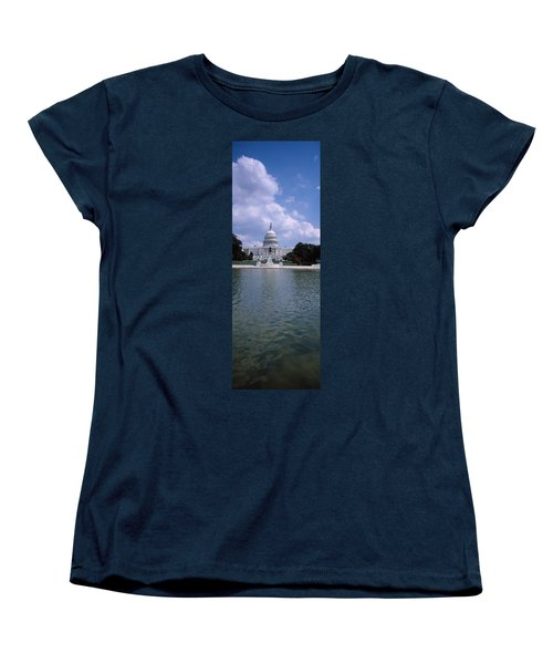 Reflecting Pool With A Government Women's T-Shirt (Standard Cut) by Panoramic Images