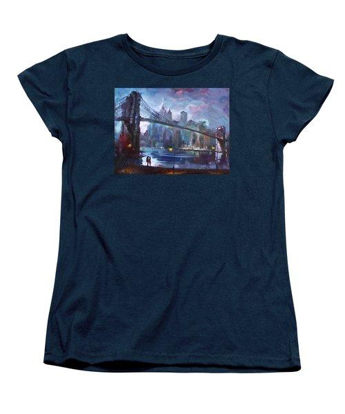 Romance By East River II Women's T-Shirt (Standard Cut) by Ylli Haruni