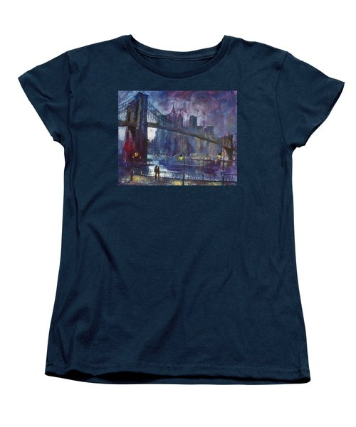 Romance By East River Nyc Women's T-Shirt (Standard Cut) by Ylli Haruni