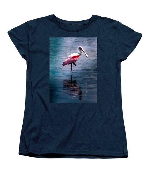Roseate Spoonbill Women's T-Shirt (Standard Cut) by Karen Wiles