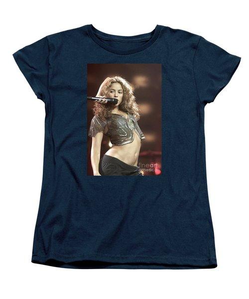 Shakira Women's T-Shirt (Standard Cut) by Concert Photos