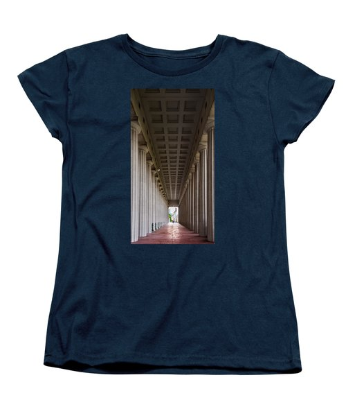 Soldier Field Colonnade Women's T-Shirt (Standard Cut) by Steve Gadomski