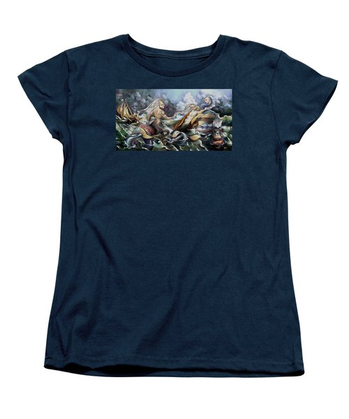 Something Fowl Afloat Redux Women's T-Shirt (Standard Cut) by Patrick Anthony Pierson