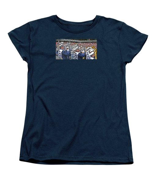 Sounds Of College Football Women's T-Shirt (Standard Cut) by Tom Gari Gallery-Three-Photography