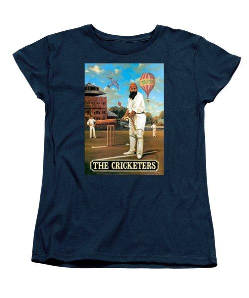 The Cricketers Women's T-Shirt (Standard Cut) by Peter Green