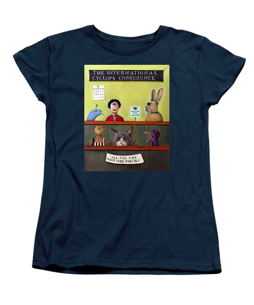 The International Cyclops Conference Women's T-Shirt (Standard Cut) by Leah Saulnier The Painting Maniac