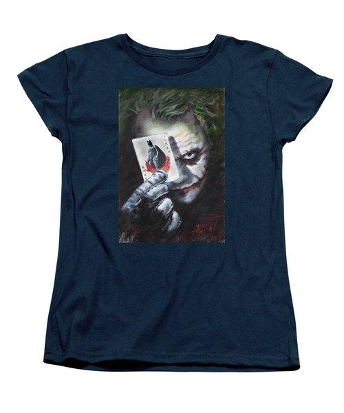 The Joker Heath Ledger  Women's T-Shirt (Standard Cut) by Viola El