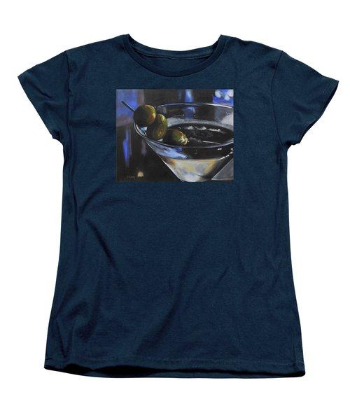 Three Olive Martini Women's T-Shirt (Standard Cut) by Donna Tuten