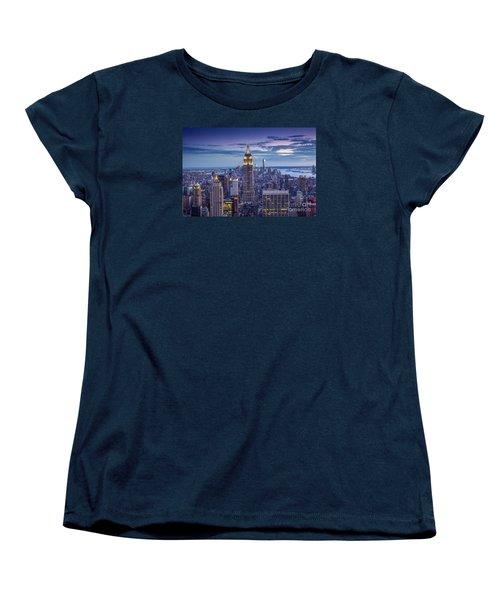 Top Of The World Women's T-Shirt (Standard Cut) by Marco Crupi