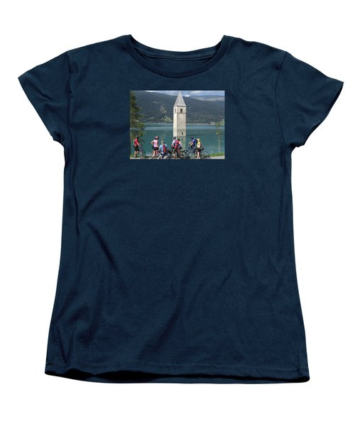Women's T-Shirt (Standard Cut) featuring the photograph Tower In The Lake by Travel Pics
