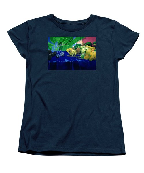 Tropical Fruit Women's T-Shirt (Standard Cut) by Lincoln Seligman