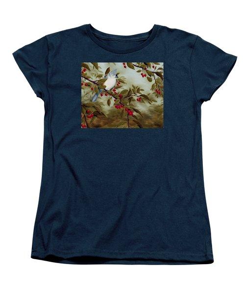Tufted Titmouse Women's T-Shirt (Standard Cut) by Rick Bainbridge