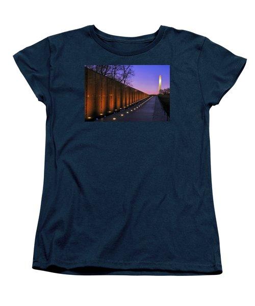 Vietnam Veterans Memorial At Sunset Women's T-Shirt (Standard Cut) by Pixabay