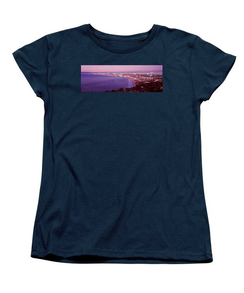 View Of Los Angeles Downtown Women's T-Shirt (Standard Cut) by Panoramic Images