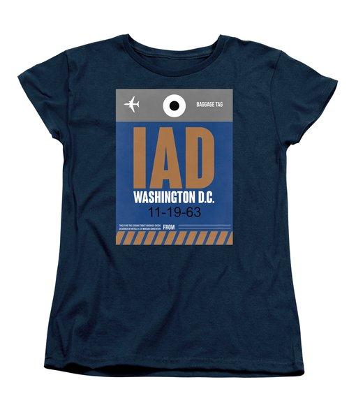 Washington D.c. Airport Poster 4 Women's T-Shirt (Standard Cut) by Naxart Studio