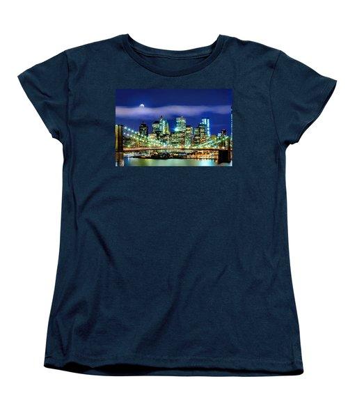 Watching Over New York Women's T-Shirt (Standard Cut) by Az Jackson
