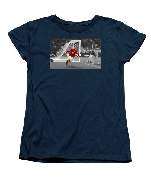 Wayne Rooney Scores Again Women's T-Shirt (Standard Cut) by Brian Reaves