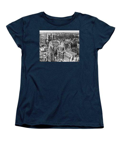 Westminster Abbey In London Women's T-Shirt (Standard Cut) by Underwood Archives