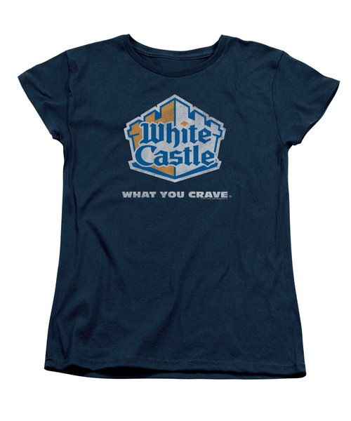 White Castle - Distressed Logo Women's T-Shirt (Standard Cut) by Brand A