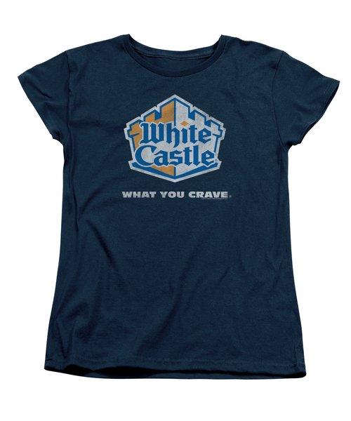 White Castle - Distressed Logo Women's T-Shirt (Standard Cut) by Brand A