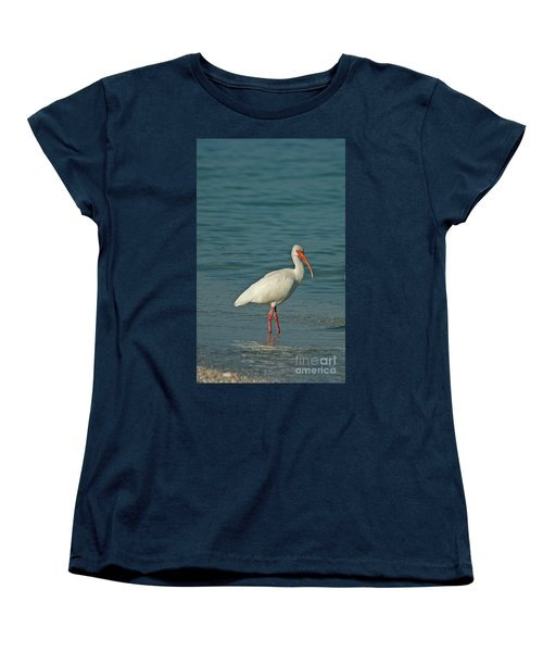 White Ibis Women's T-Shirt (Standard Cut) by Cindi Ressler