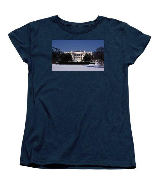 Winter White House  Women's T-Shirt (Standard Cut) by Skip Willits