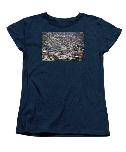Wrigley Field - Home Of The Chicago Cubs Women's T-Shirt (Standard Cut) by Adam Romanowicz