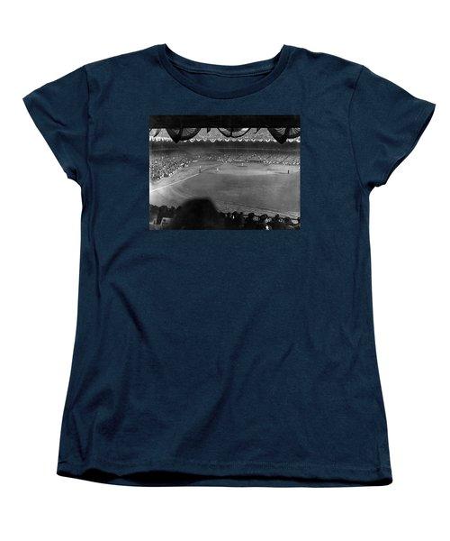 Yankees Defeat Giants Women's T-Shirt (Standard Cut) by Underwood Archives