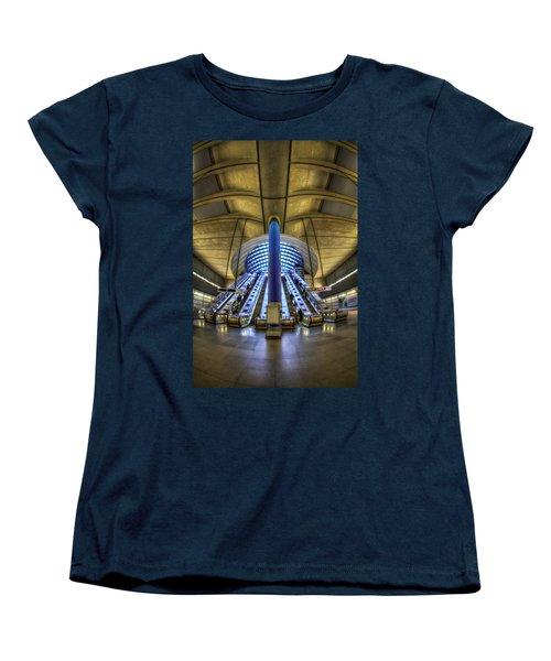 Alien Landing Women's T-Shirt (Standard Cut) by Evelina Kremsdorf