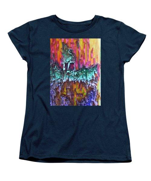 Women's T-Shirt (Standard Cut) featuring the digital art Ancient Footsteps by Richard Laeton