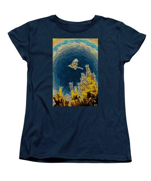 Bluejay Gone Wild Women's T-Shirt (Standard Cut) by Trish Tritz