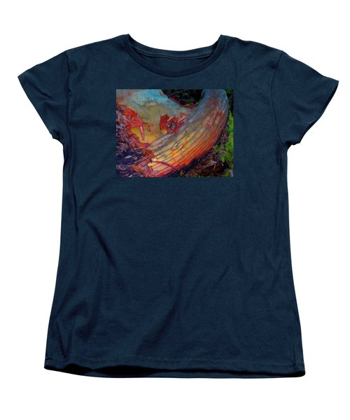 Women's T-Shirt (Standard Cut) featuring the digital art Here And Now by Richard Laeton