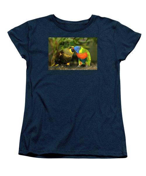 Kissing Birds Women's T-Shirt (Standard Cut) by Carolyn Marshall