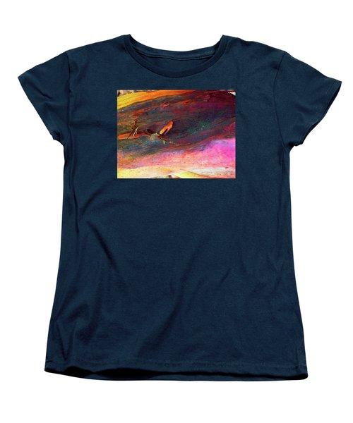 Women's T-Shirt (Standard Cut) featuring the digital art Landing by Richard Laeton