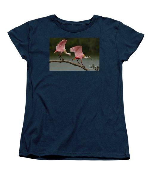Rosiette Spoonbills Women's T-Shirt (Standard Cut) by Bob Christopher
