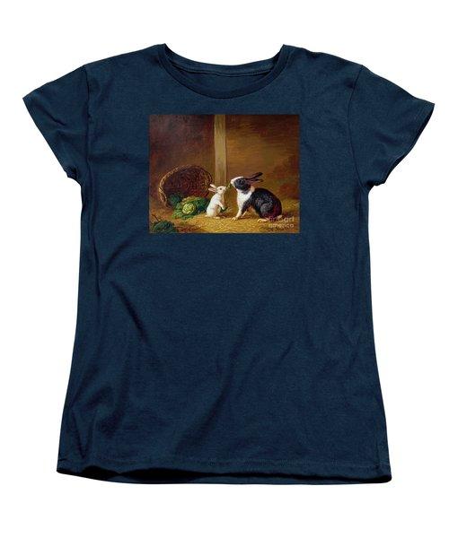 Two Rabbits Women's T-Shirt (Standard Cut) by H Baert