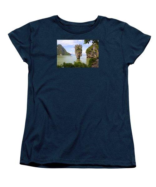 007 Island   2 Women's T-Shirt (Standard Cut) by Mark Ashkenazi