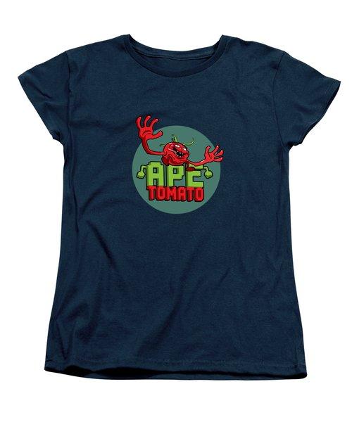 Ape Tomato Grey Green Women's T-Shirt (Standard Cut) by Nicolas Palmer
