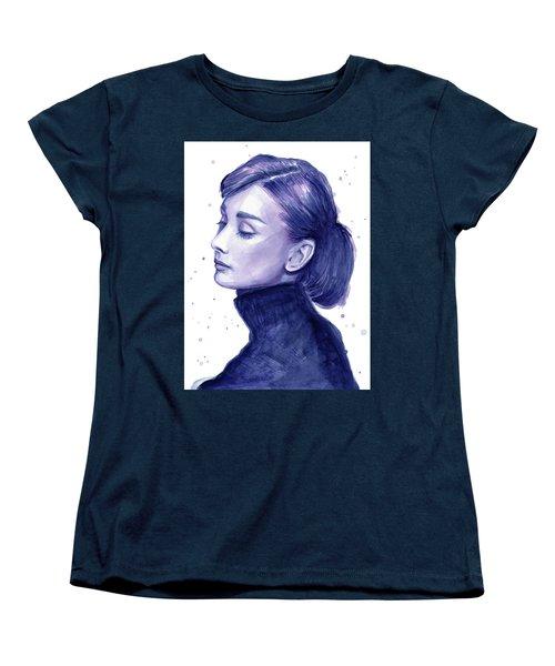 Audrey Hepburn Portrait Women's T-Shirt (Standard Cut) by Olga Shvartsur