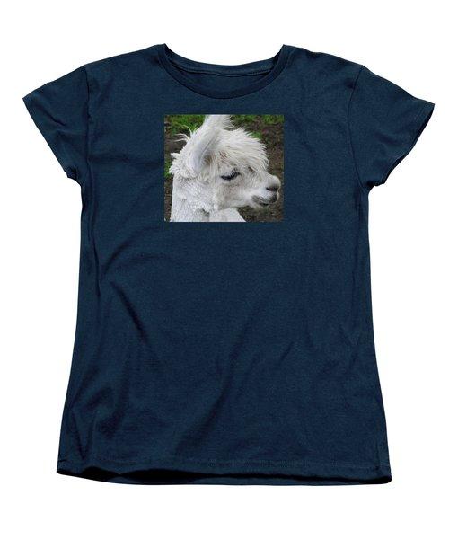 Baby Llama Women's T-Shirt (Standard Cut) by Ellen Henneke