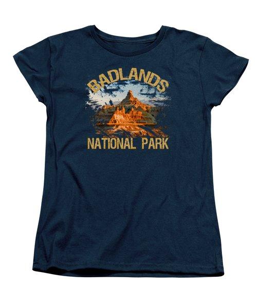 Badlands National Park Women's T-Shirt (Standard Cut) by David G Paul