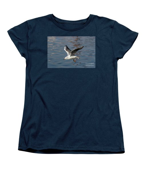 Flying Gull Women's T-Shirt (Standard Cut) by Michal Boubin