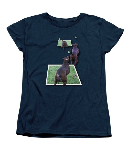 Keep Your Eye On The Ball Women's T-Shirt (Standard Cut) by Roger Wedegis